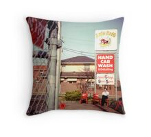 At The Carwash Throw Pillow