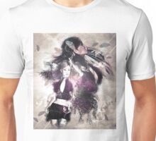 Girl with ravens manipulation 2 Unisex T-Shirt