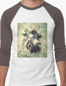 Girl with ravens manipulation 4 Men's Baseball ¾ T-Shirt
