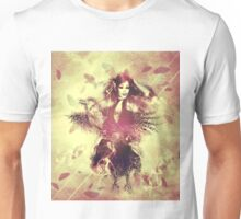 Girl with ravens manipulation 5 Unisex T-Shirt