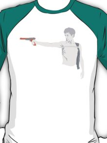 Taxi Driver and Nintendo Zapper Mashup - You Talkin' To Me? (Greyscale) T-Shirt