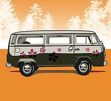 VW combi by Lara Allport