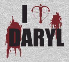 Walking Dead Zombie Fans - I <3 Daryl - Black Lettering   Unisex T-Shirt