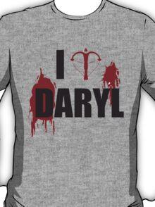 Walking Dead Zombie Fans - I <3 Daryl - Black Lettering T-Shirt