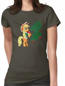 XMAS PONY Womens Fitted T-Shirt