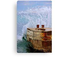 Calm & Powerful Sea - the Mediterranean, France. Canvas Print