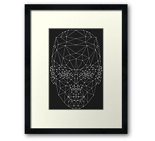 Low Poly Girl Framed Print
