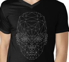 Low Poly Girl Mens V-Neck T-Shirt