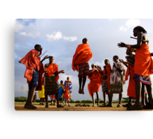 masai warrriors. Canvas Print