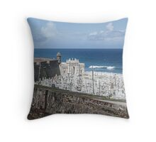 Cementerio Santa María Magdalena de Pazzis Throw Pillow