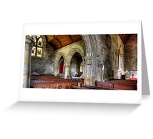 Inside Culross Abbey Church Greeting Card