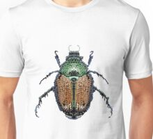 Bedazzled Japanese Beetle transparent background Unisex T-Shirt