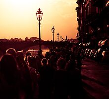 Florence promenade at Dusk [sqaure] by scottimage