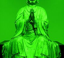 Green Buddha by Shara