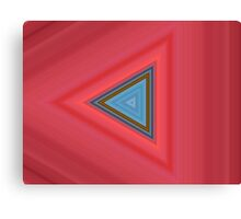 Blue and red triangles Canvas Print