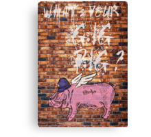 What's Your Gig Pig? - wall Canvas Print