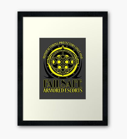 Failsafe Armored Escorts worn Framed Print