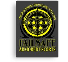 Failsafe Armored Escorts worn Canvas Print