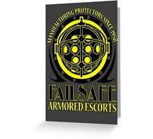 Failsafe Armored Escorts worn Greeting Card