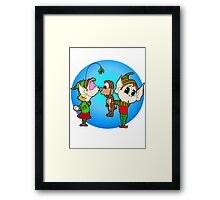 Elf Kisses Framed Print