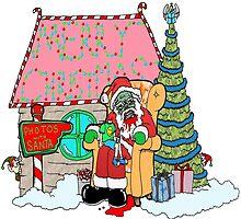 Santa at the Mall by Skree