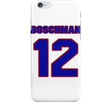 National Hockey player Laurie Boschman jersey 12 iPhone Case/Skin