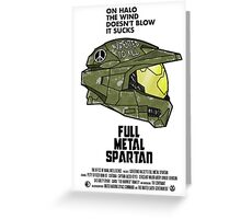 Full Metal Spartan Greeting Card