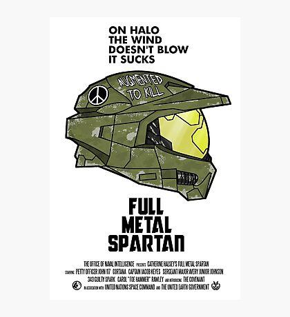 Full Metal Spartan Photographic Print