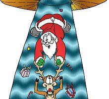 Santa being stolen by Skree