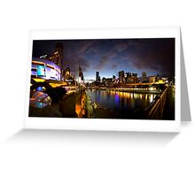 Melbourne skyline at night Greeting Card