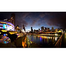 Melbourne skyline at night Photographic Print