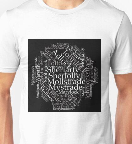 BBC Sherlock Ship Name Cloud Unisex T-Shirt