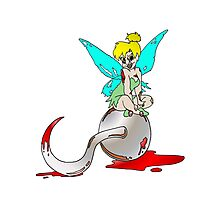 Zombie Tinkerbell Photographic Print