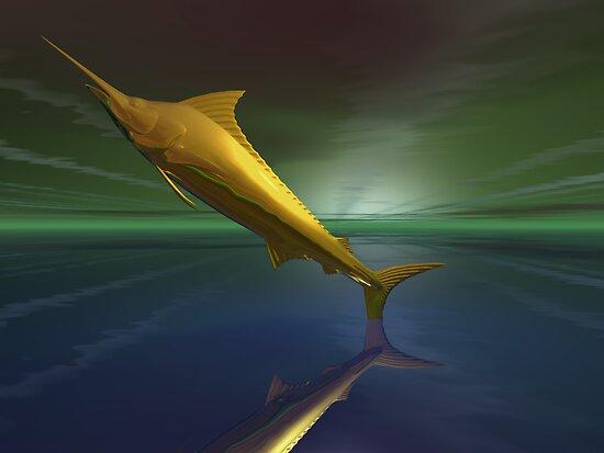 Golden fantasy dream marlin by pelmof
