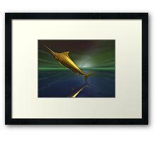 Golden fantasy dream marlin Framed Print