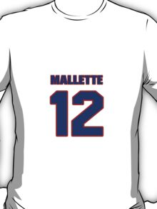 National Hockey player Troy Mallette jersey 12 T-Shirt