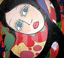 Girl in a swirl by Michelle Avery