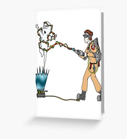 Casper meets The Ghostbusters Greeting Card