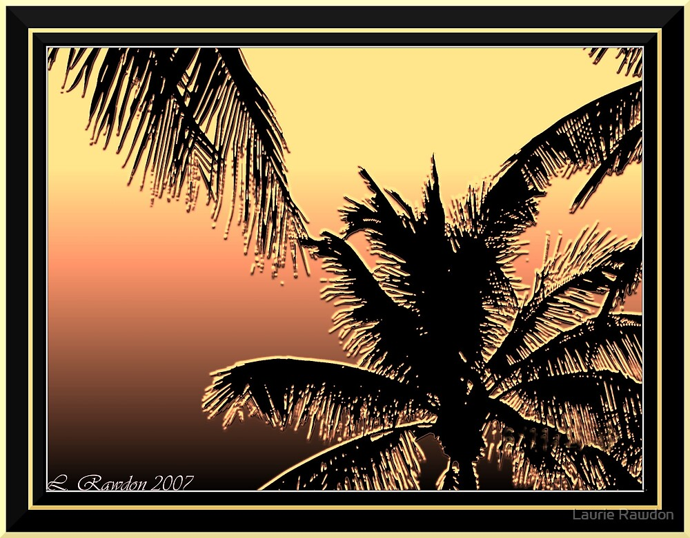 Palms at Dusk by Laurie Rawdon