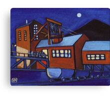 Coal waggons (from my original acrylic painting) Canvas Print