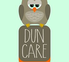 Duncan the Owl Dun Care by solnoirstudios