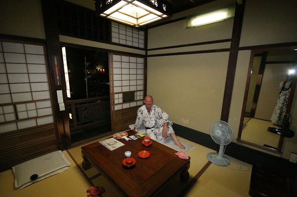 Cultural attache soaking it up at the Dogo Onsen by Trishy