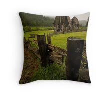 Mountain Farm Throw Pillow