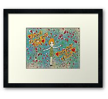 I want to send you love Framed Print