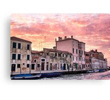 Venice sunset Canvas Print