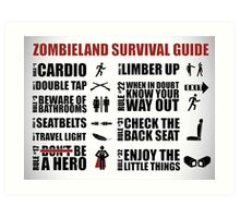 Zombieland Survival Guide Art Print