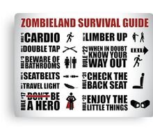 Zombieland Survival Guide Canvas Print