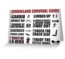 Zombieland Survival Guide Greeting Card