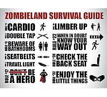 Zombieland Survival Guide Photographic Print