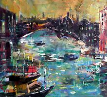 City Waterways - Boats & Cities Art Gallery by Ballet Dance-Artist